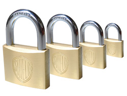 Shield Brass Padlocks<BR>(Keyed Alike)