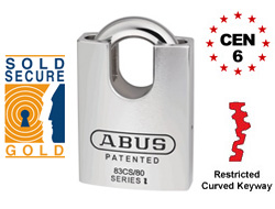 CEN 6 Closed Shackle ABUS Rock (Keyed Alike)