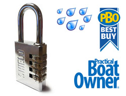 Chrome Marine Combination Padlock