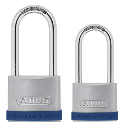 Long Shackle Siver Rock Padlocks