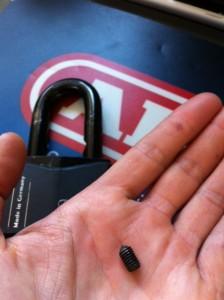 ABUS Granit Padlock Shackle Screw