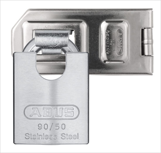 Discus Padlock on Hasp