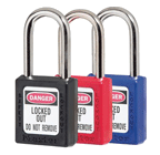Coloured safety padlocks