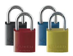 Coloured Aluminium Padlocks (Keyed Alike)