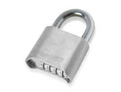 Large Chrome Plated Combination Padlock
