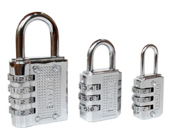 Budget Chrome Plated Combination Padlocks