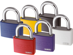 Coloured Aluminium Vinyl Padlocks