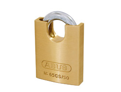 Closed Shackle Brass Padlock