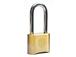 Long Shackle Heady Duty Brass Combination Padlock
