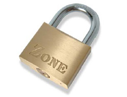 50mm Zone Brass Padlock