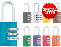 Coloured Combination Padlocks
