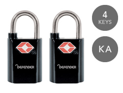 Defender Keyed TSA Padlocks
