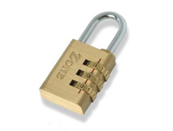 Brass Combination Padlock 30mm / 3 dials