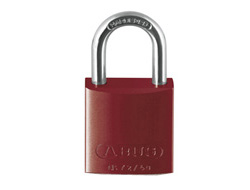 Red Aluminium Padlock 40mm