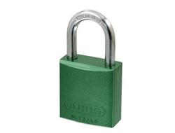 Green Aluminium Padlock 40mm