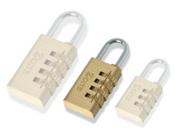 Brass Combination Padlock  30mm / 4 dials