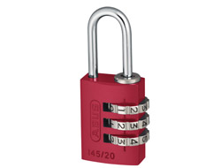 Red Aluminium Combination Padlock (20mm)