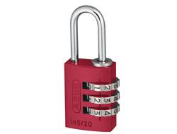 Red Aluminium Combination Padlock (20mm)