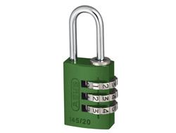 Green Aluminium Combination Padlock (20mm)