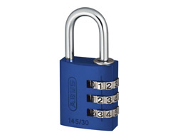 Blue Aluminium Combination Padlock 30mm