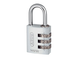 Silver Aluminium Combination Padlock 30mm