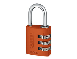 Orange Aluminium Combination Padlock 30mm
