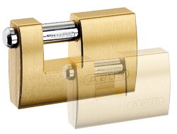 Brass Shutter Padlock 90mm
