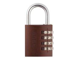 Brown Aluminium Combination Padlock (40mm)