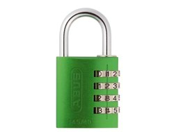 Green Aluminium Combination Padlock 40mm