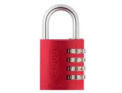 Red Aluminium Combination Padlock (40mm)