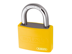 Keyed Alike Aluminium Vinyl Padlock (Yellow)