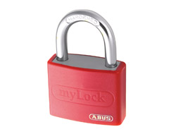 Keyed Alike Aluminium Vinyl Padlock (Red)