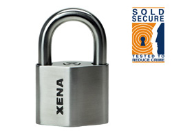 Keyed Alike Alarm Padlock short shackle