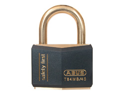 Keyed Alike Safety Padlock Black