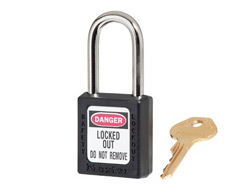 Keyed Alike Zenex Safety Padlock Black 11F252