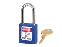 Keyed Alike Zenex Safety Padlock Blue 13F012