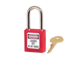 Keyed Alike Zenex Safety Padlock Red 12F001