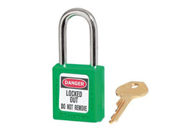 Keyed Alike Zenex Safety Padlock Green 13F011