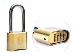 Long Shackle Heavy Duty Brass Combination Padlock
