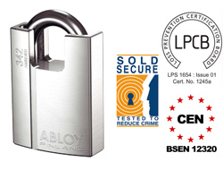 Abloy PL362 Closed Shackle Padlock (CEN6)