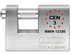 Keyed Alike Titalium Shutter Lock (70mm)