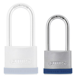 Keyed Alike Long Shackle Silver Rock Padlock 40mm