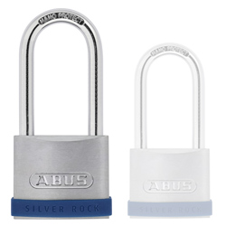Keyed Alike Long Shackle Silver Rock Padlock (50mm)