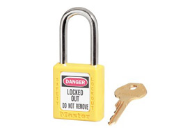 Keyed Alike Zenex Safety Padlock (Yellow) 15F089