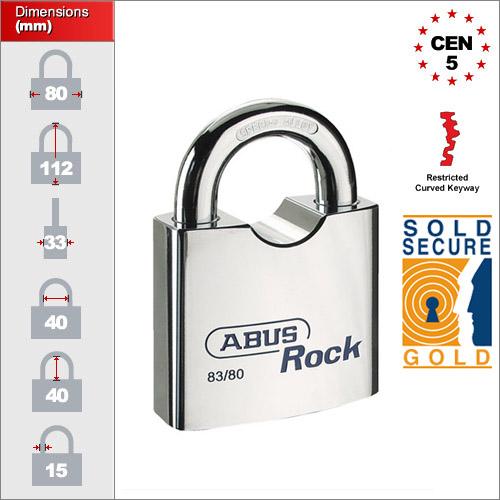 Abus 83 80 Res Restricted Abus Rock Padlock Buy Online