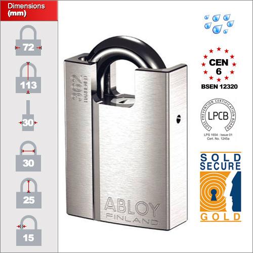Abloy Pl362 Abloy Pl362 Closed Shackle Padlock Cen6 Buy